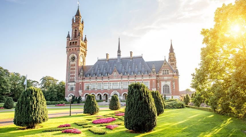 Facade of the Peace Palace