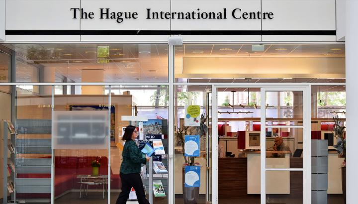entrance of The Hague International Centre